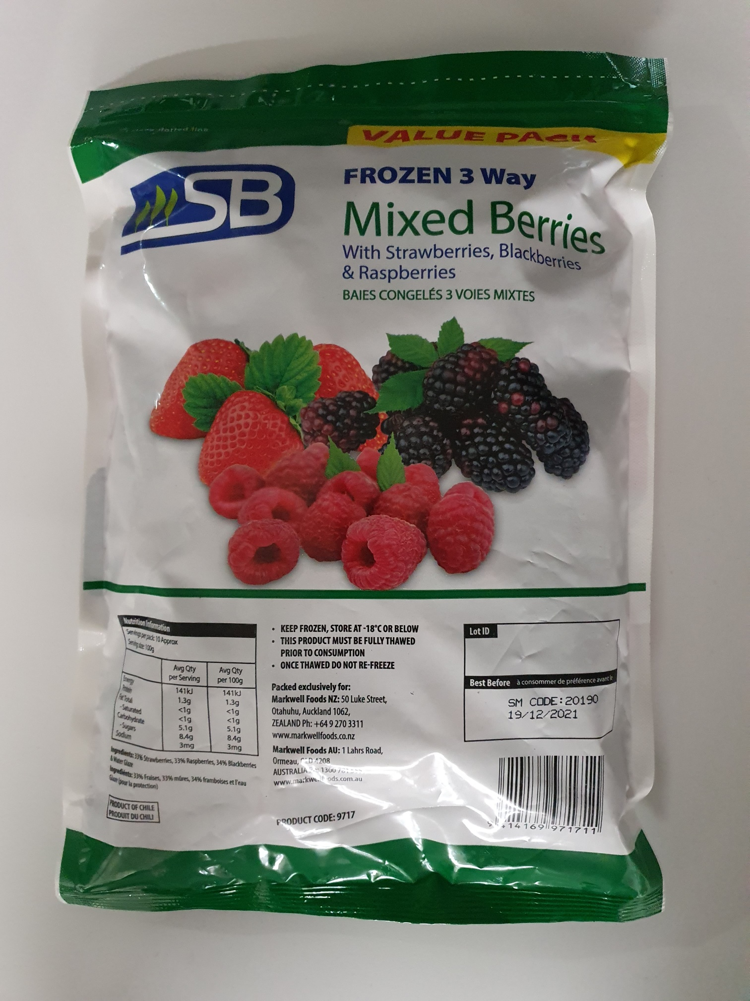 Frozen Berries Mixed